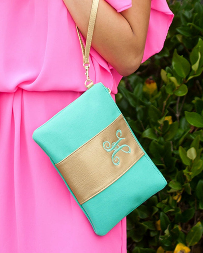 Personalized Clutch Wristlet