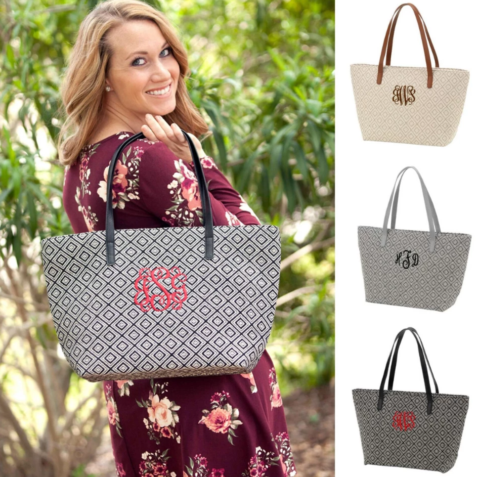 Monogrammed Diamond Handbag