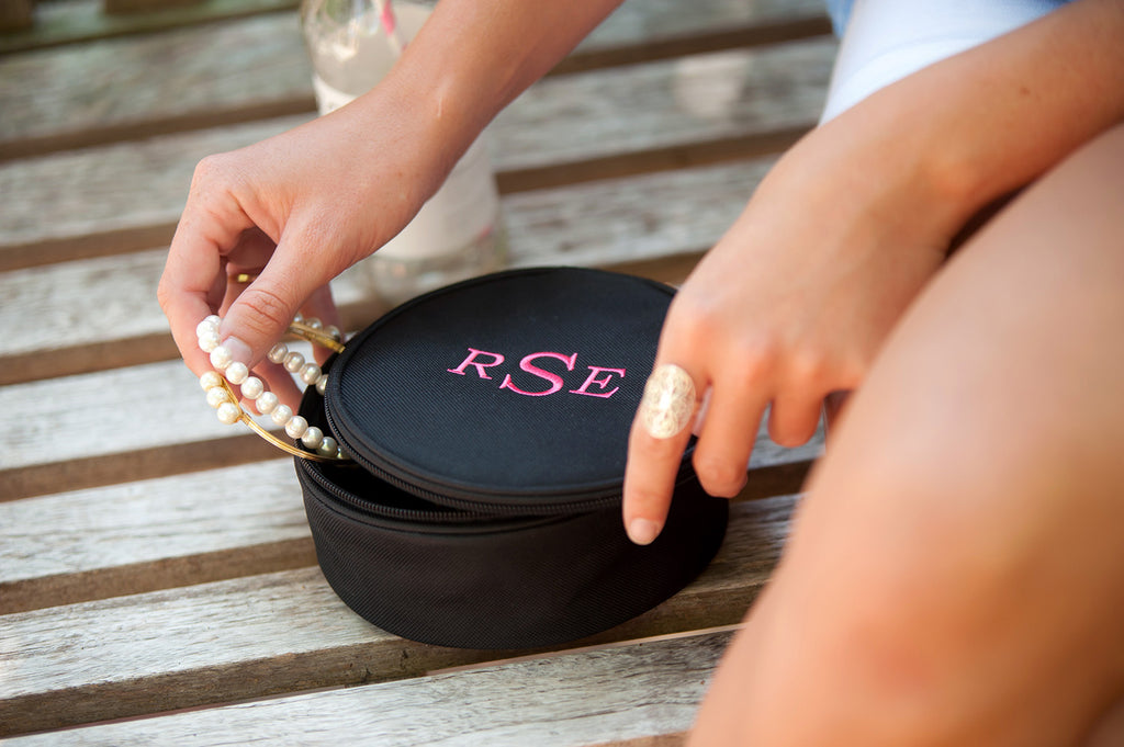 Personalized Jewelry Case - Black