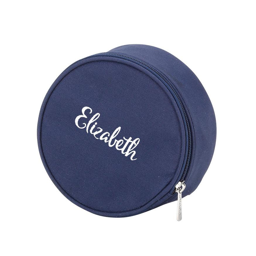 Personalized Jewelry Case - Navy Blue