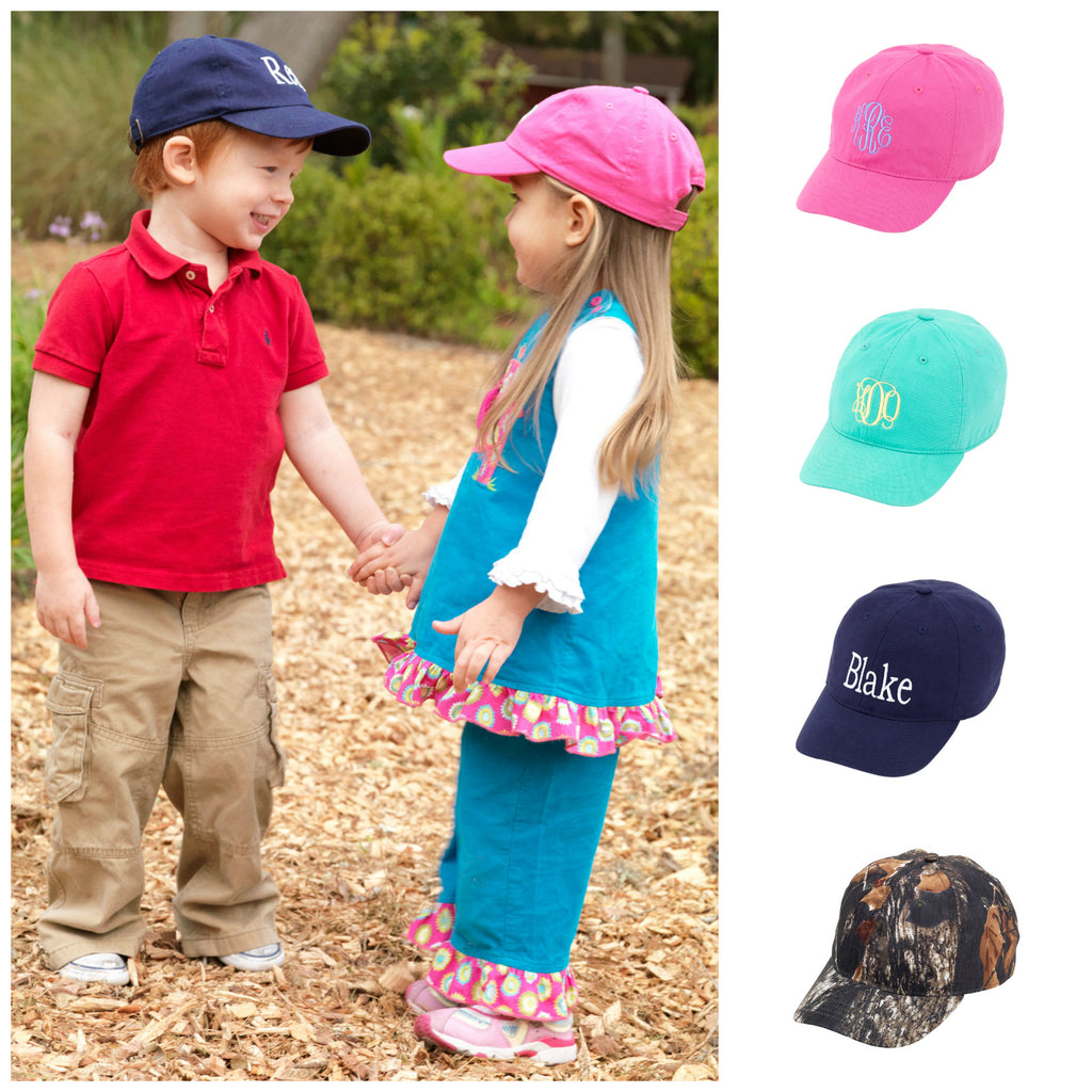 Personalized Monogrammed Kids Baseball Cap Toddler Hat - Gifts Happen Here - 1