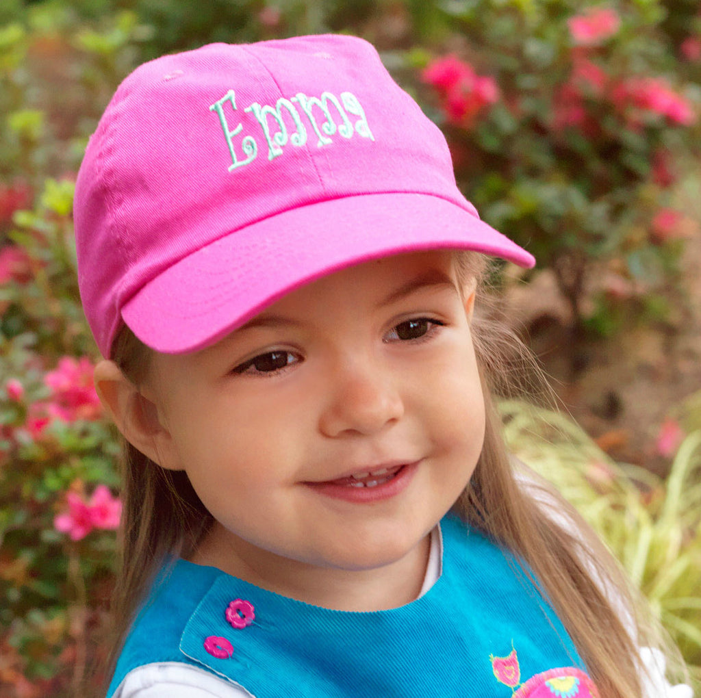 Personalized Monogrammed Kids Baseball Cap Toddler Hat - Gifts Happen Here - 5