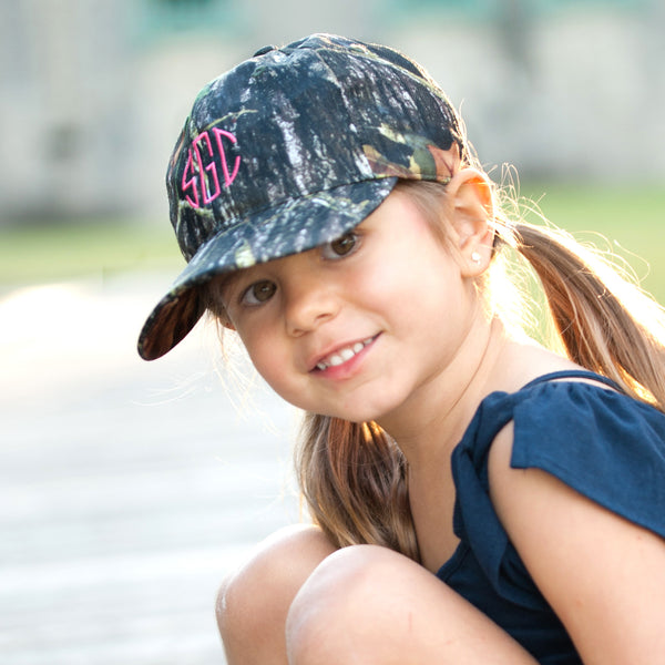 Personalized Monogrammed Kids Baseball Cap Toddler Hat