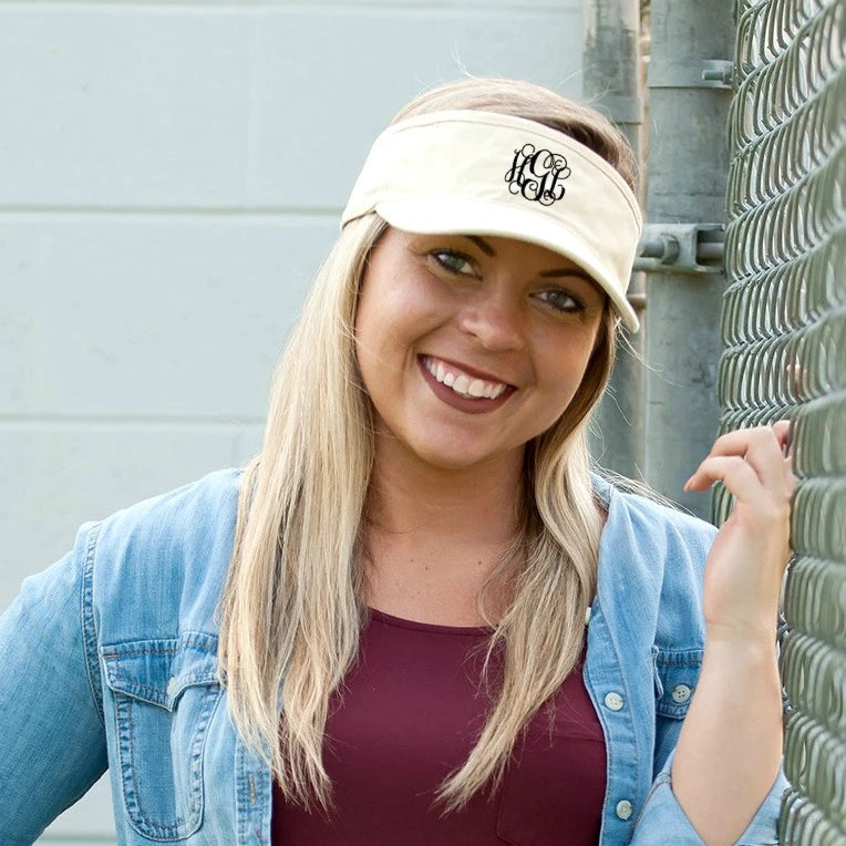 Personalized Womens Visor Cap - Natural