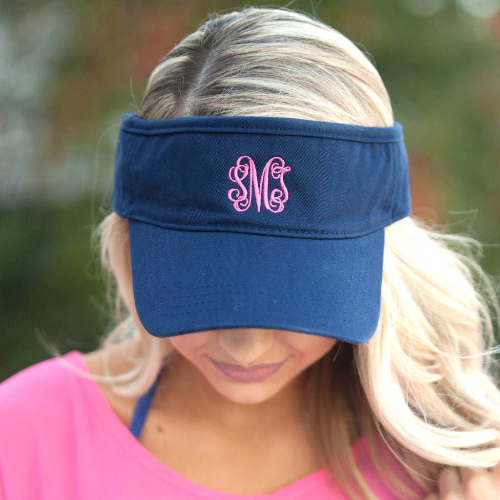 Personalized Womens Visor Cap - Navy