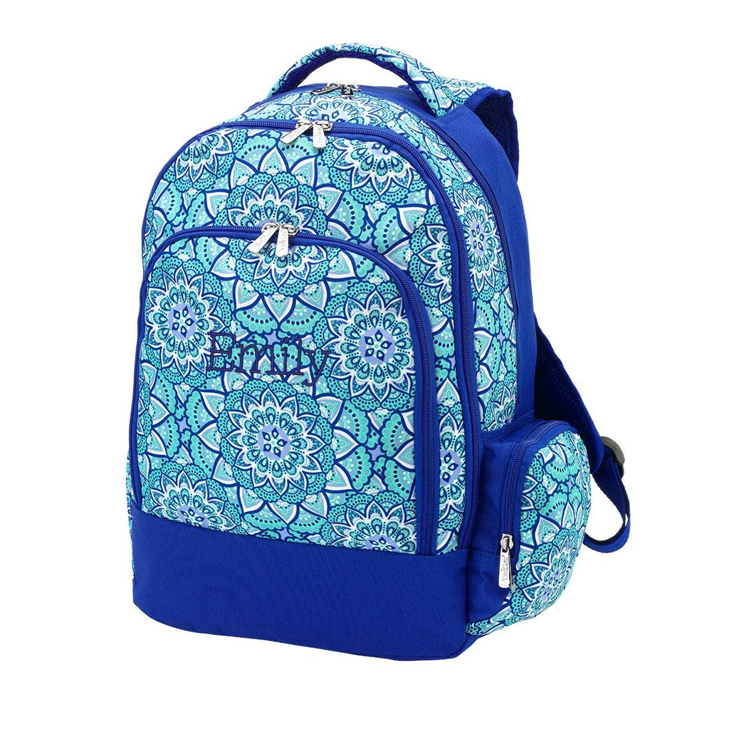 Retired Patterns - Personalized Backpack Bookbag Kids School Bag - Day Dream Boho