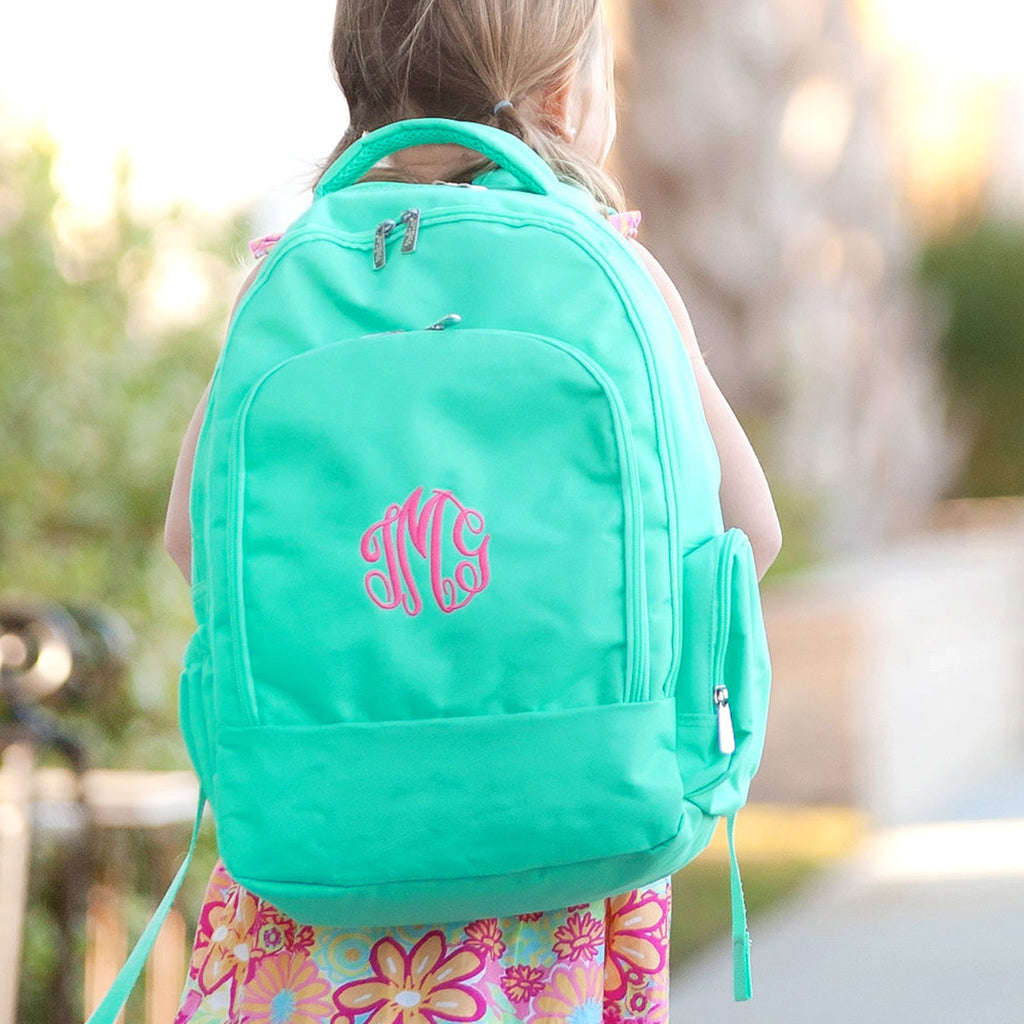 Personalized Backpack Bookbag Kids School Tote Bag - Mint