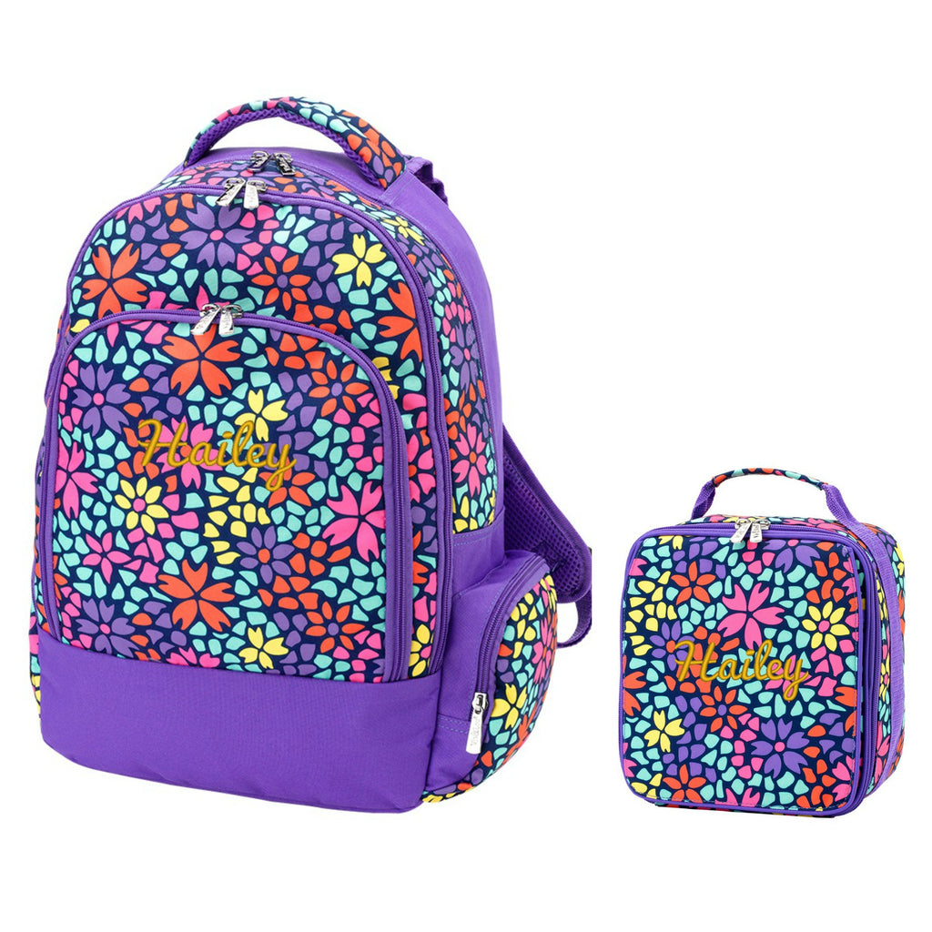 Retired Patterns - Personalized Matching Backpack & Lunchbox Combo