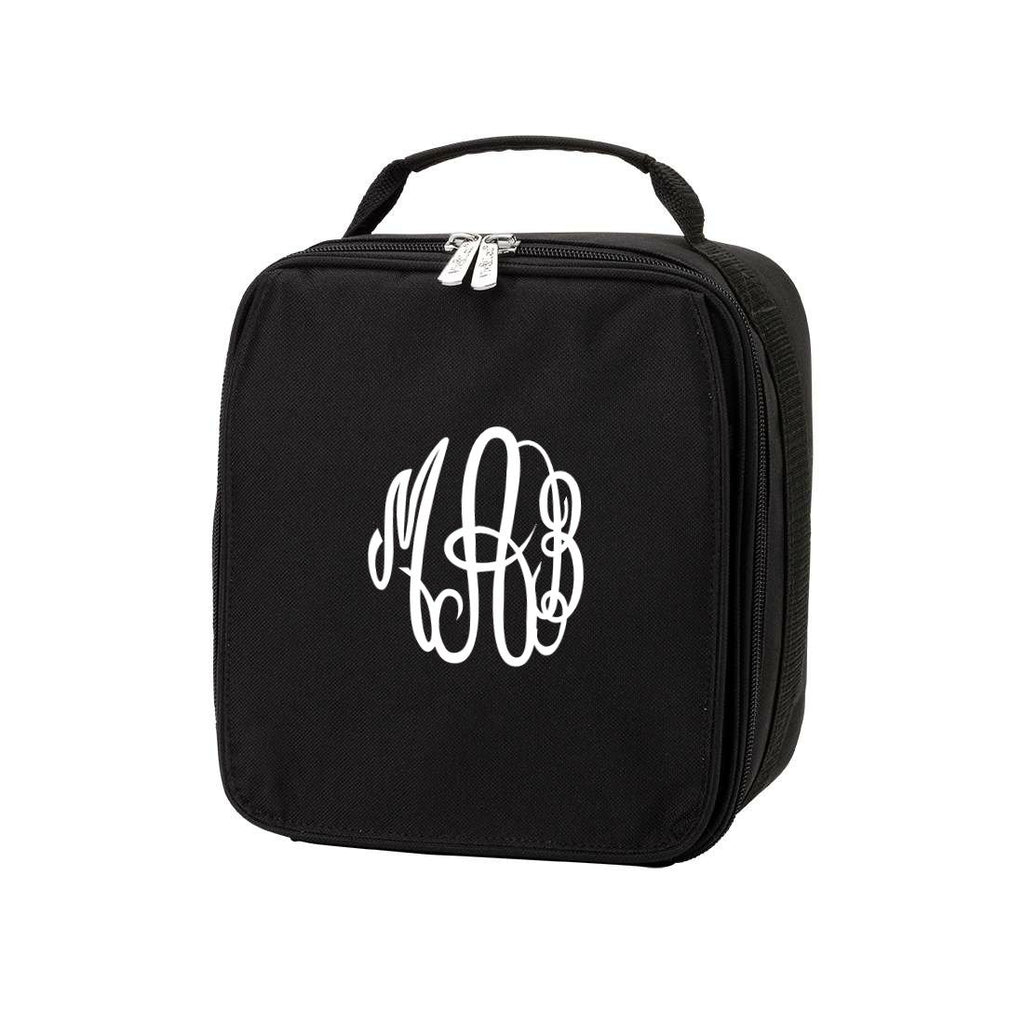 Personalized Lunch Bag - Monogrammed Lunchbox - Black