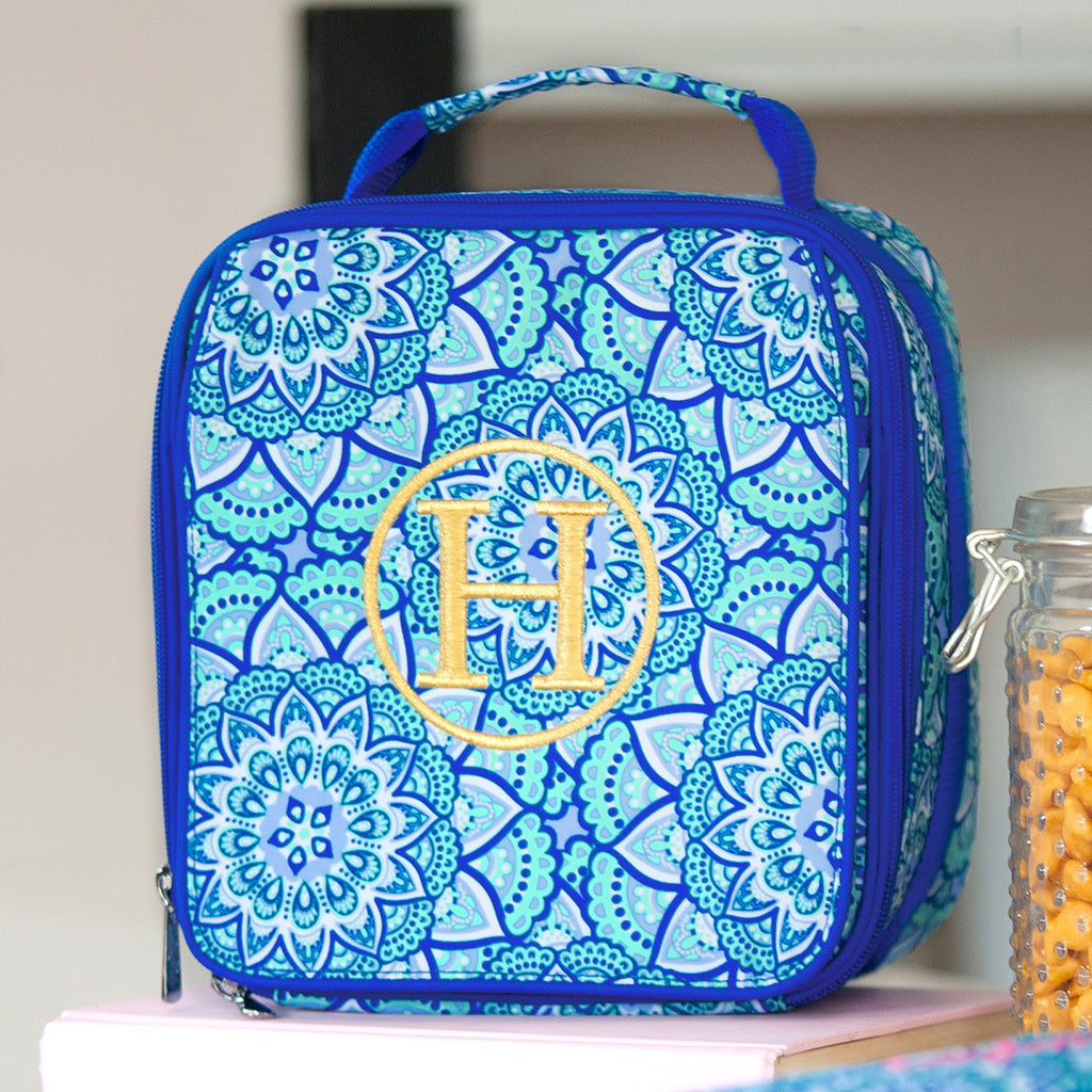 "Retired Patterns - Personalized 9"" Lunch Bag Insulated Lunchbox - Day Dream Boho"