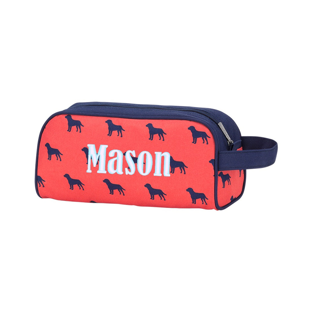 Personalized Mens Boys Toiletry Bag Travel Pouch