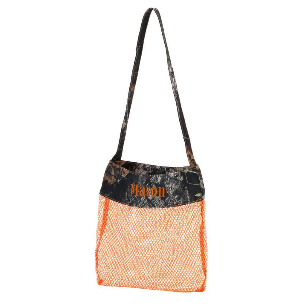 Personalized Kids Sea Shell Mesh Tote Bag - Camo Woods