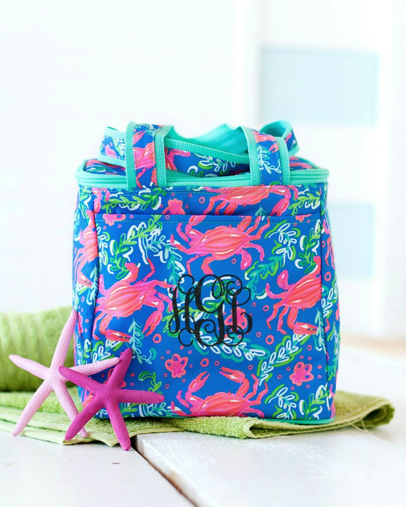 Personalized Cooler Bag - Insulated Tote - Crab
