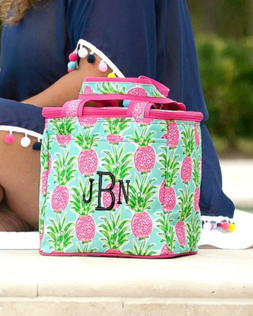 Personalized Cooler Bag - Insulated Tote - Pineapple