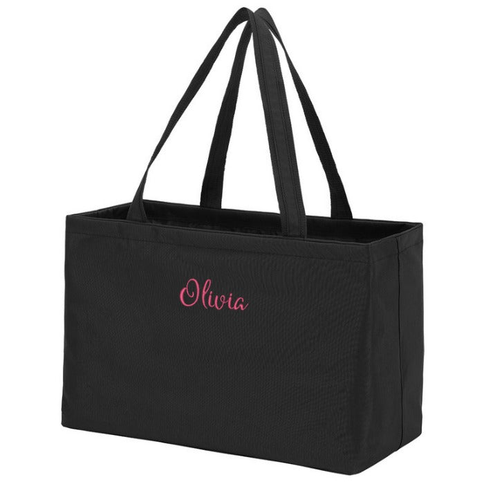Personalized Large Utility Tote Bag