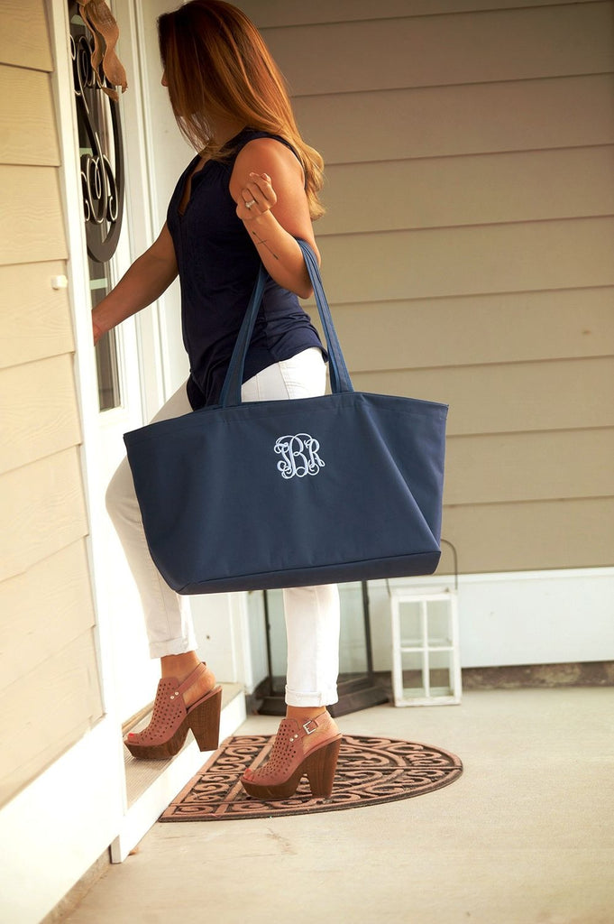 Monogrammed Large Tailgate Tote Bag