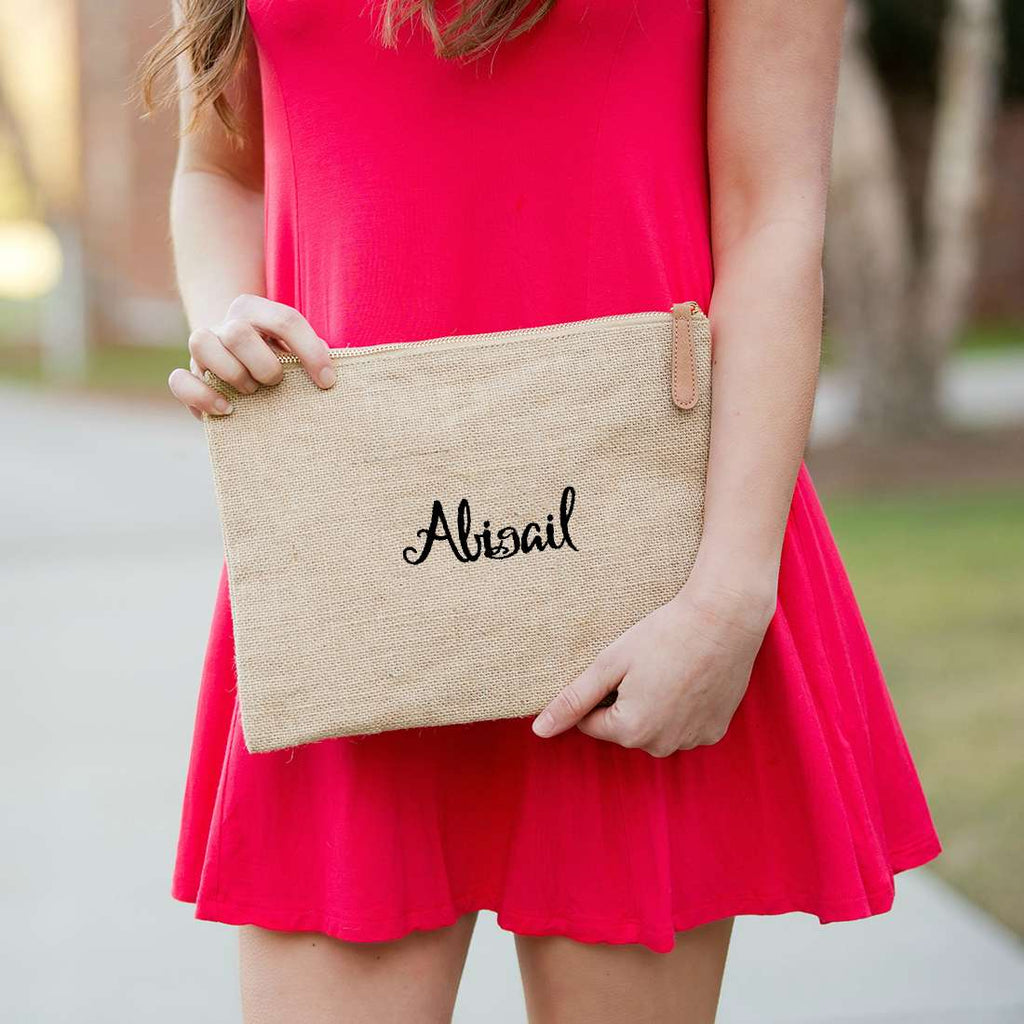 Personalized Large Zip Pouch