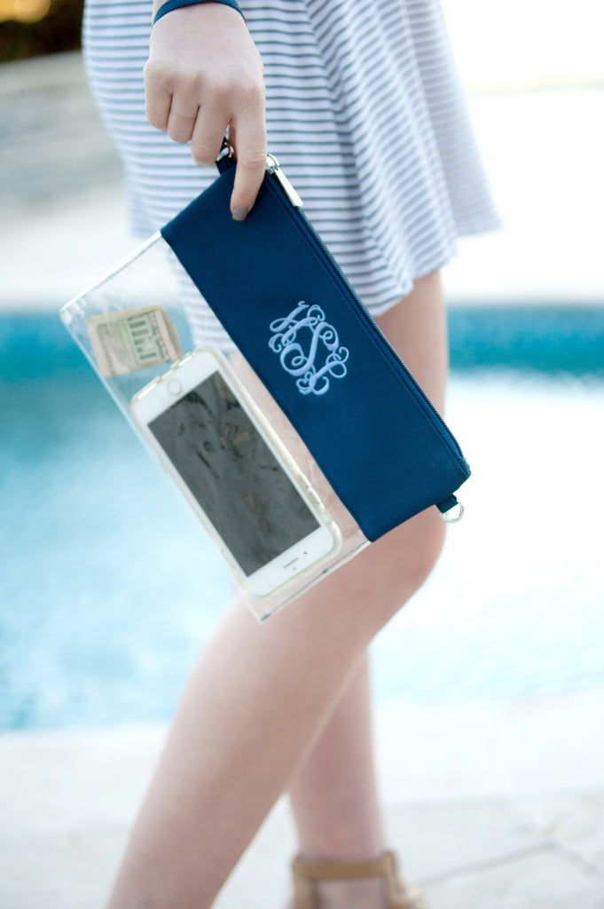 #nurselife Navy Clear Purse