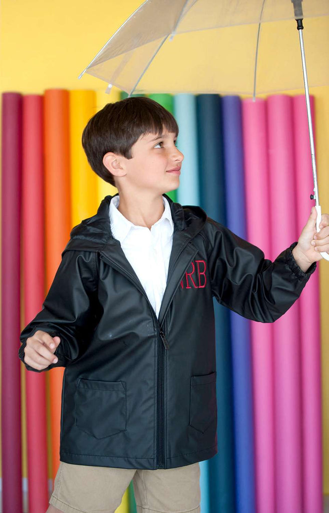 Monogrammed Kids Rain Jacket - Kids Rain Coat for Girls & Boys