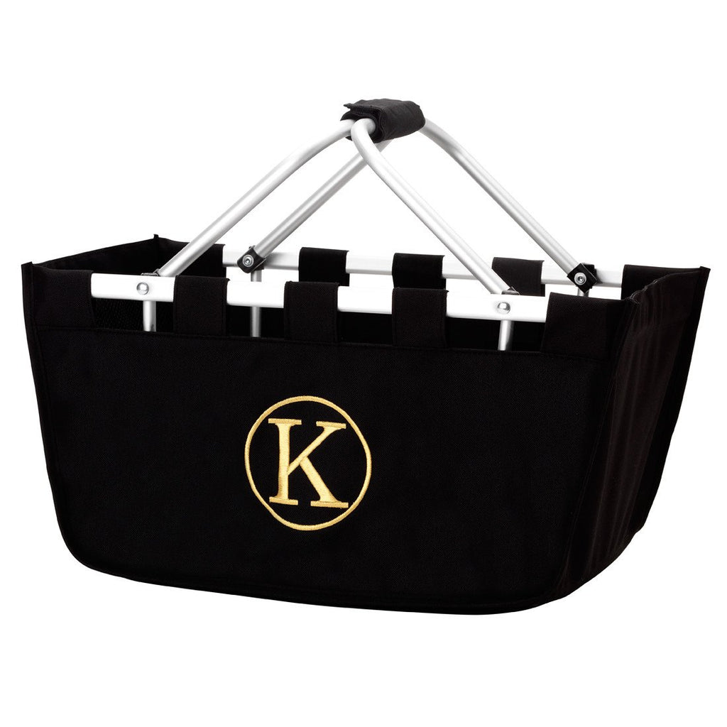 Personalized Large Market Basket - Black