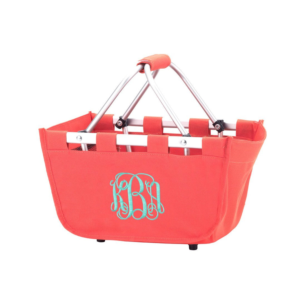 Personalized Small Market Basket - Coral