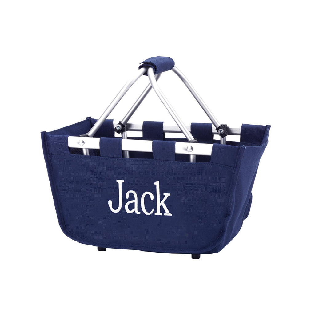 Personalized Small Market Basket - Navy