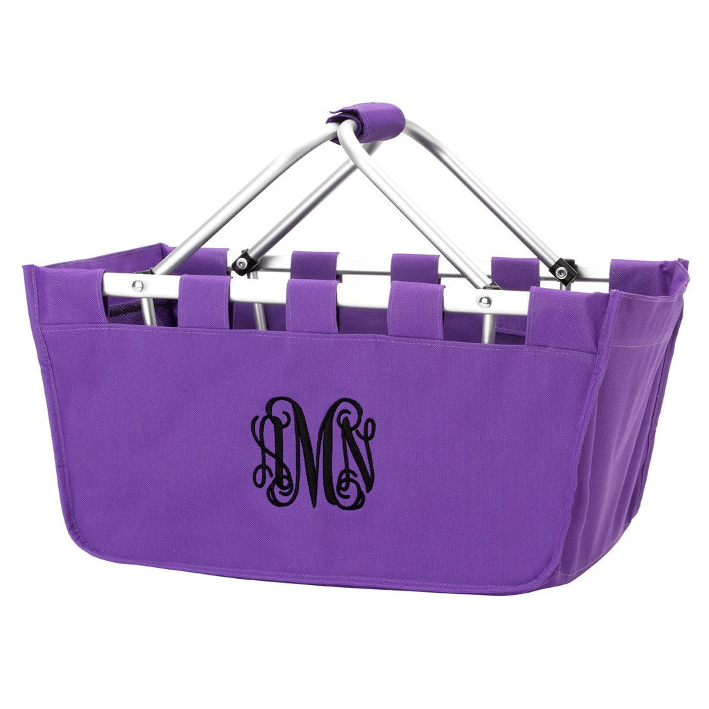 Personalized Large Market Basket - Purple