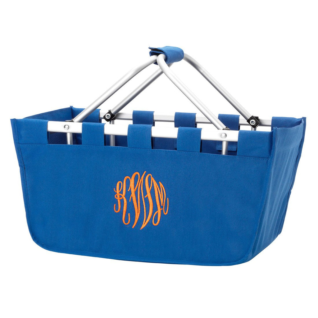 Personalized Large Market Basket - Royal Blue