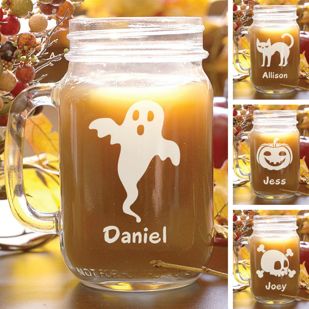 Personalized Halloween Mason Jars
