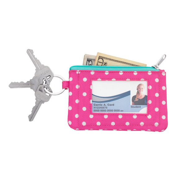 Dottie ID Case Polka Dot Pink Mint