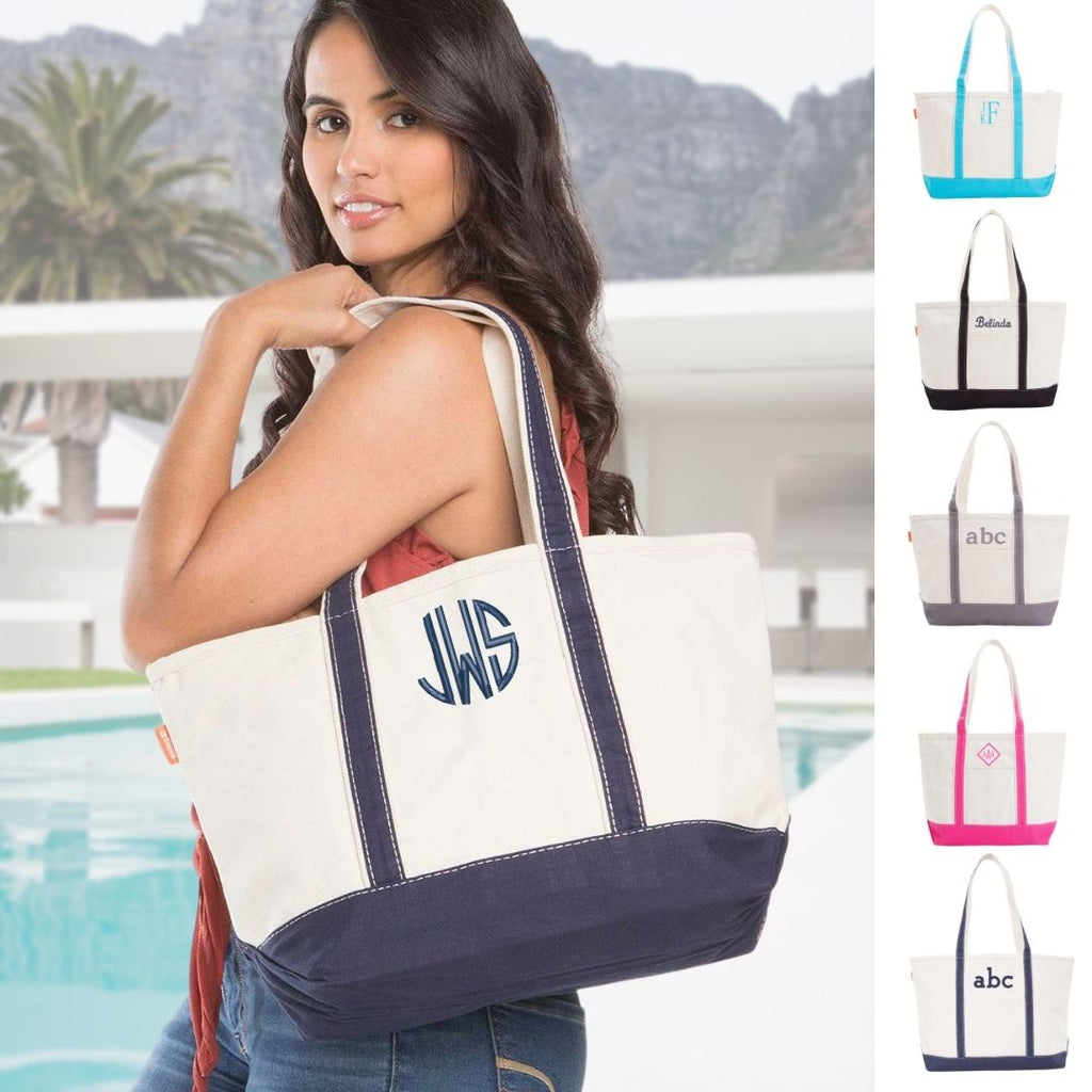 Personalized Heavy 24 oz Medium Boat Tote Bag