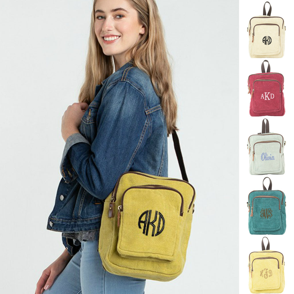 Personalized Jute Mini Backpack