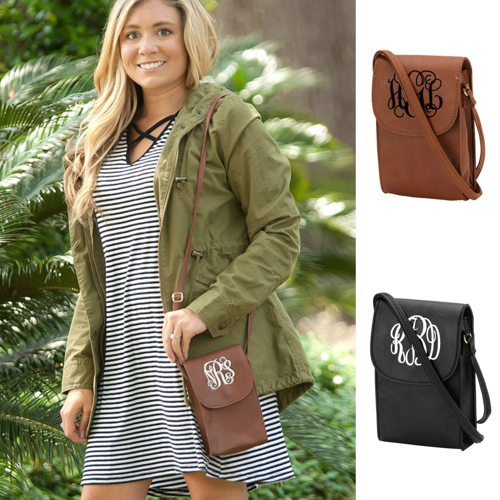 Monogrammed Phone Crossbody Case Purse