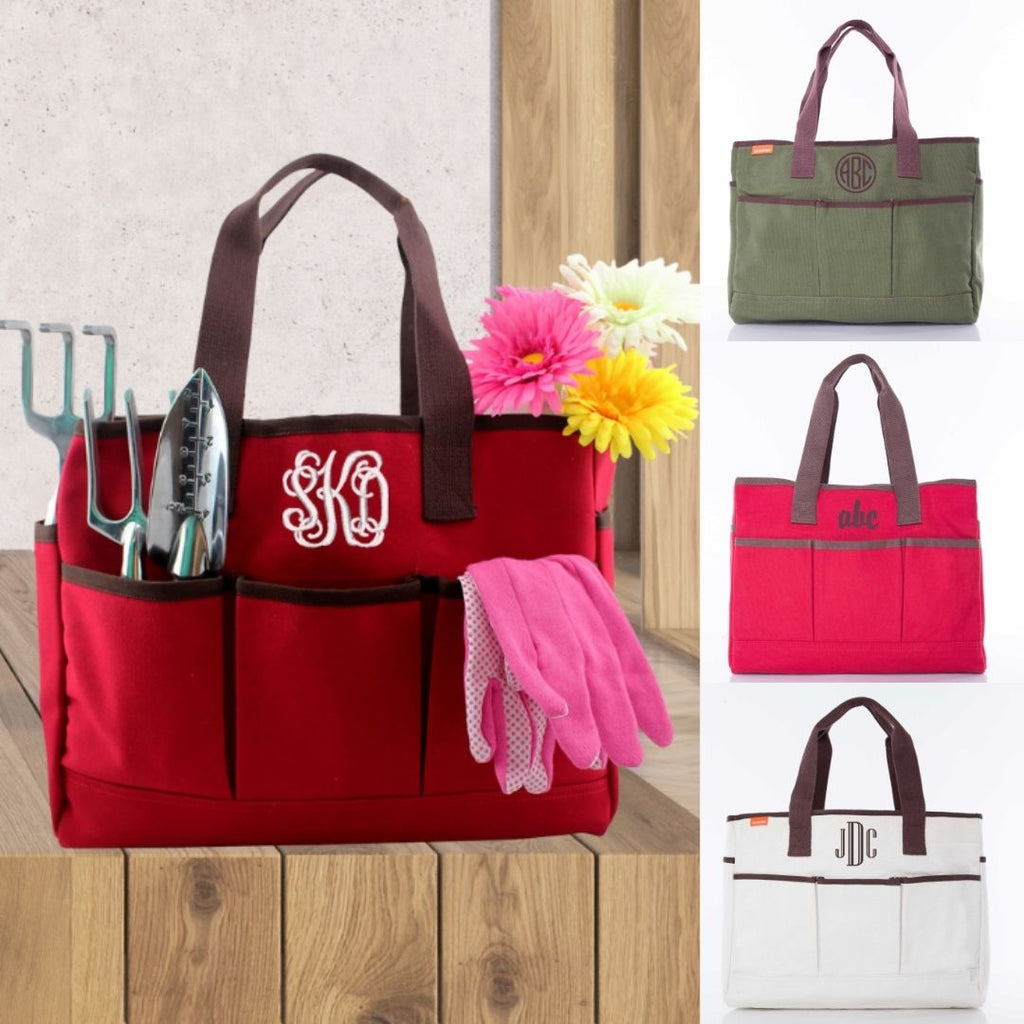Personalized Utility Tote Bag - Multi Pocket Tote