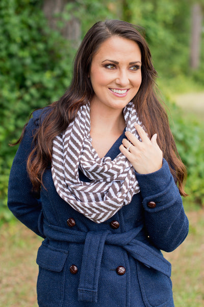 Personalized Embroidered Monogram Infinity Scarf Striped - Gifts Happen Here - 8
