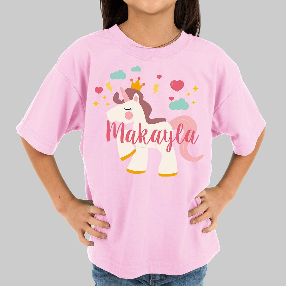 Personalized Unicorn Kids T-Shirt