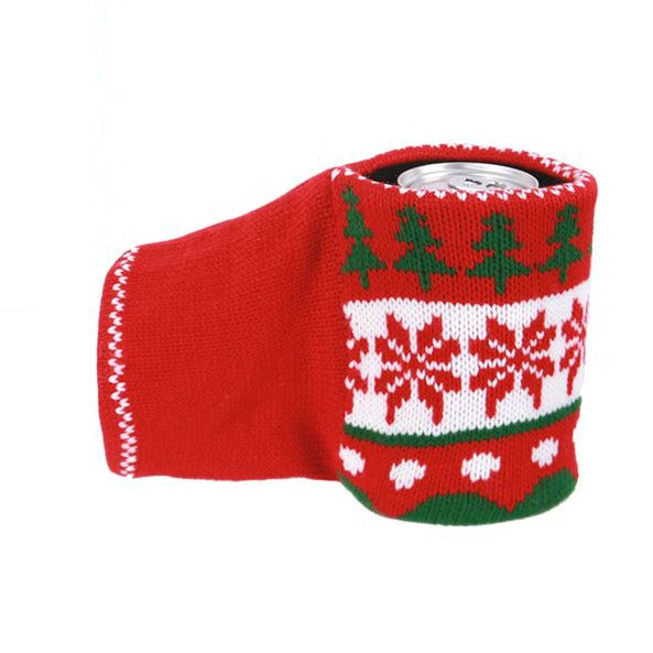 Nordic Knit Hand Warmer Can Holder