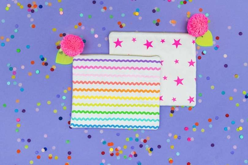Ric Rac Ribbon Zip Pouch