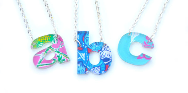 Personalized Floating Single Letter Lower Case Block Necklace - Gifts Happen Here - 1