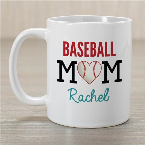 Personalized Baseball Mom Coffee Mug
