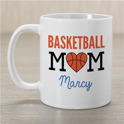 Personalized Basketball Mom Coffee Mug