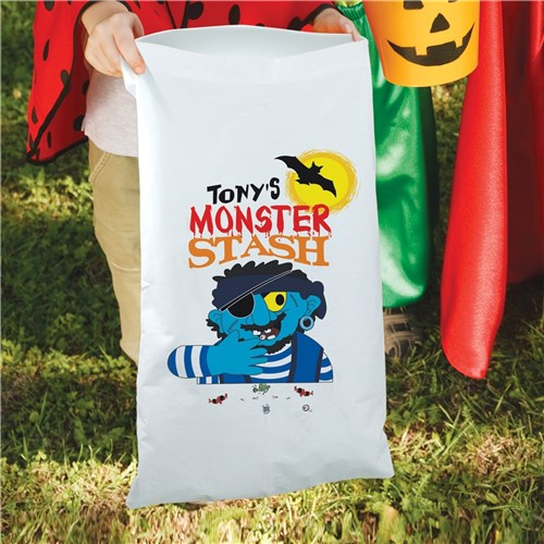 Personalized Halloween Large Candy Sack Tote for Kids - Trick Or Treat Bag