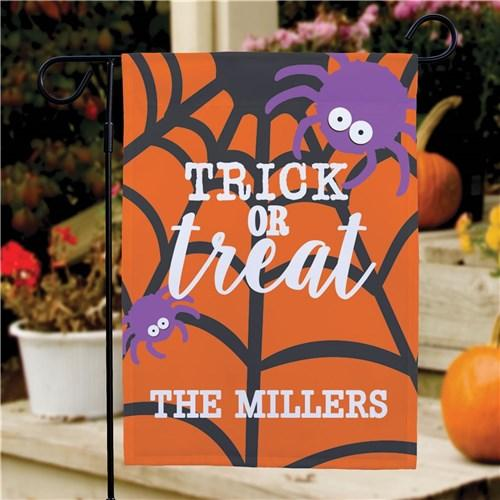 Personalized Halloween & Fall Garden Flags - Trick Or Treat Spider