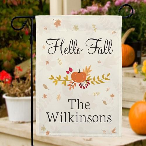 Personalized Halloween & Fall Garden Flags - Hello Fall