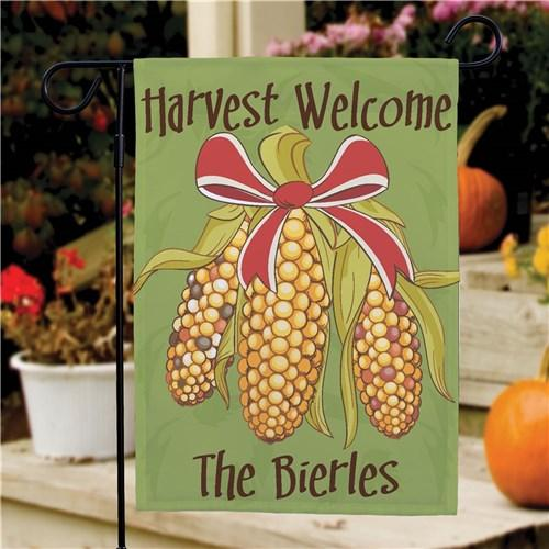 Personalized Halloween & Fall Garden Flags - Harvest Welcome