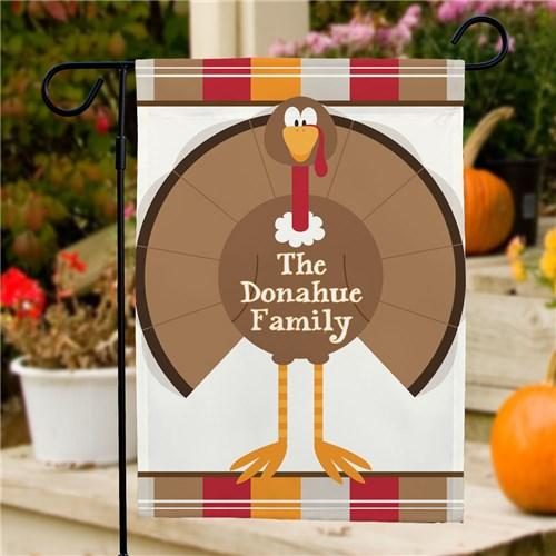 Personalized Halloween & Fall Garden Flags - Turkey