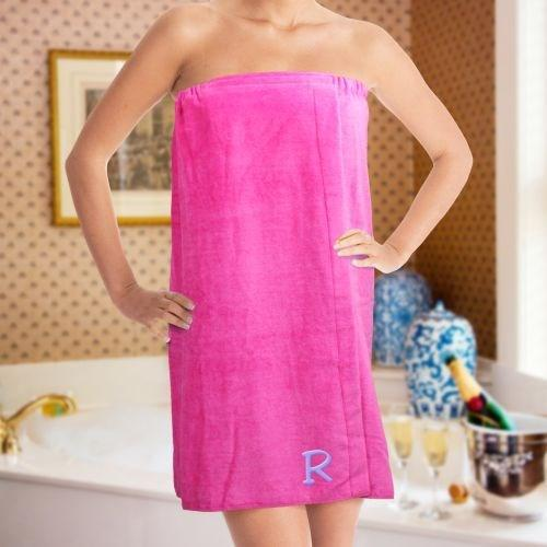 Personalized Embroidered Initial Spa Wrap - Valentine's Day Gift