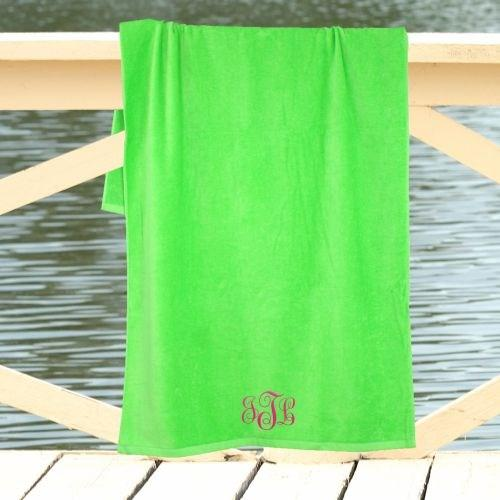 Personalized Monogram Beach Towel Embroidered