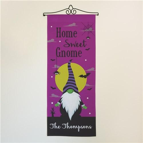 Personalized Halloween & Fall Wall Banners Signs - Home Sweet Gnome