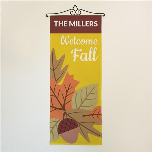 Personalized Halloween & Fall Wall Banners Signs - Welcome Fall